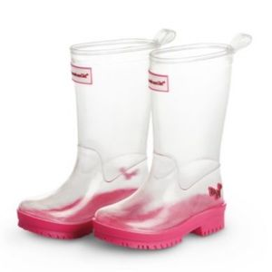 American Doll Peek A Boo rain Boots Sz 1/2